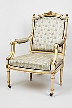 Louis XVI Style Armchair, 'Fauteuil à la Reine' c. 1900