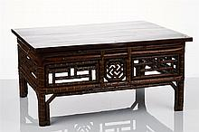 Two Chinese Bamboo Side Tables
