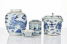 Assorted Chinese Blue and White Porcelain Jars