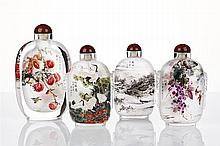 Four Large Chinese Inside-painted Snuff Bottles