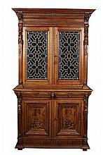 Renaissance Revival Oak Bookcase