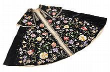 Spanish Silk Embroidered Matador's Cape Mid-20th Century