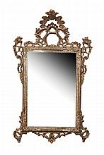 Baroque Style Gilt-wood Mirror