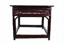Chinese Bamboo Table Late Qing Dynasty, 19th Century