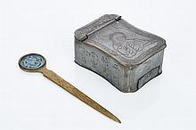 Chinese Pewter Cosmetic Box