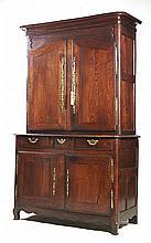 Louis XV Style Walnut and Oak Buffet