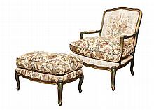 Pair of Louis XV Style Marquis Fauteuils