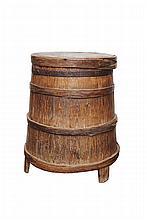 Chinese Covered Wood Storage Box