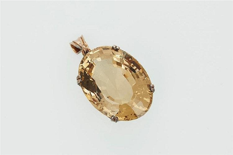 Large Citrine Pendant