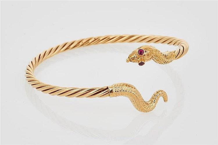 Gold Serpent Bangle