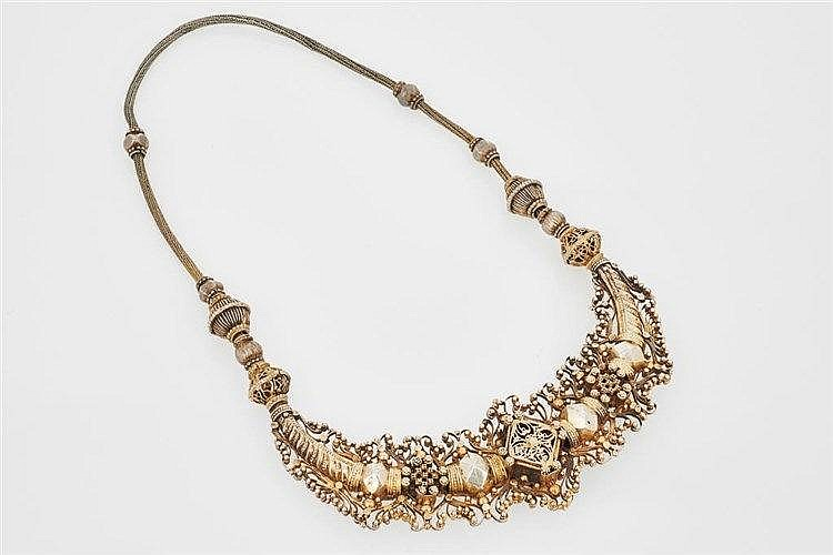 Indian Gilded Silver Necklace