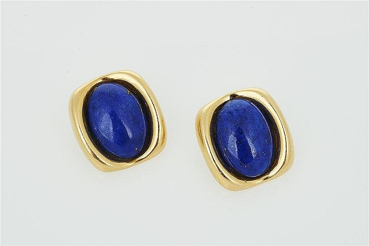 Pair of Lapis Lazuli Earrings