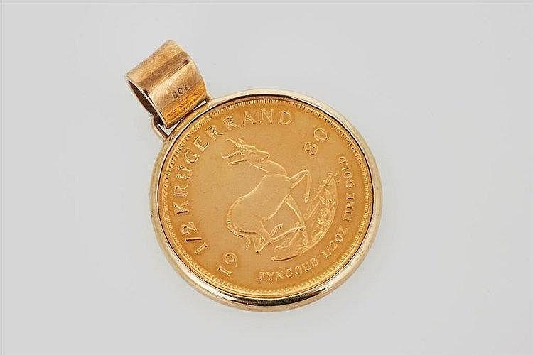 Krugerrand Coin Pendant