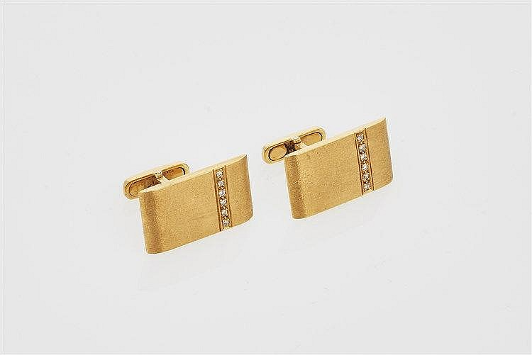 Pair of Gold and Diamond Cufflinks