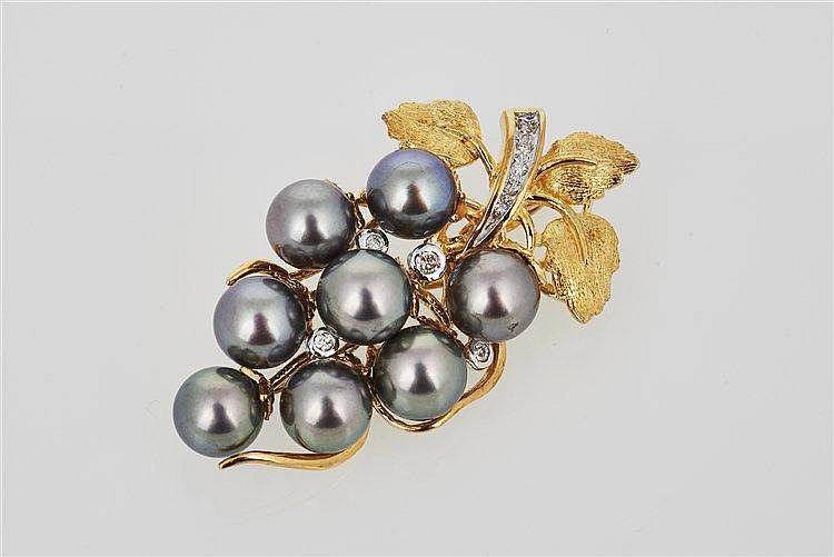 Pearl and Diamond Enhancer / Brooch