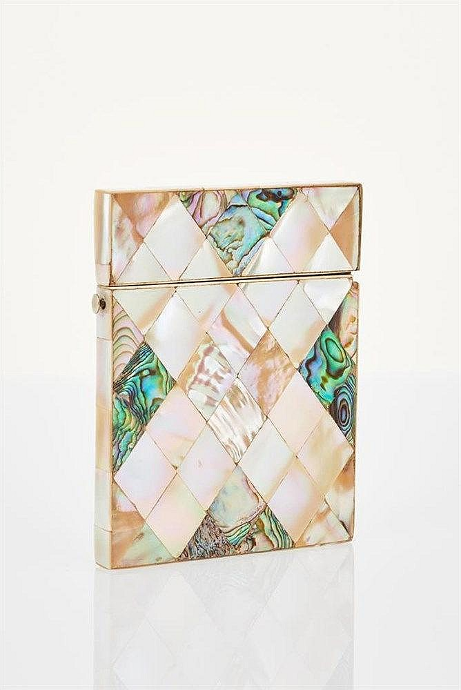 Mother-of-Pearl and Abalone Card Case