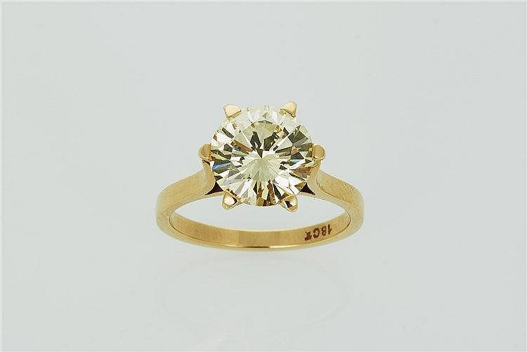 Yellow Diamond Solitaire Ring