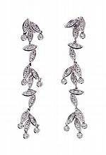 Pair of Diamond Drop Earrings