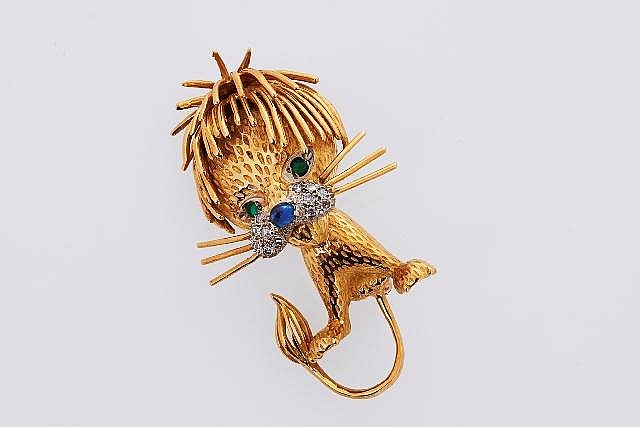 Gold and Gem-set Brooch