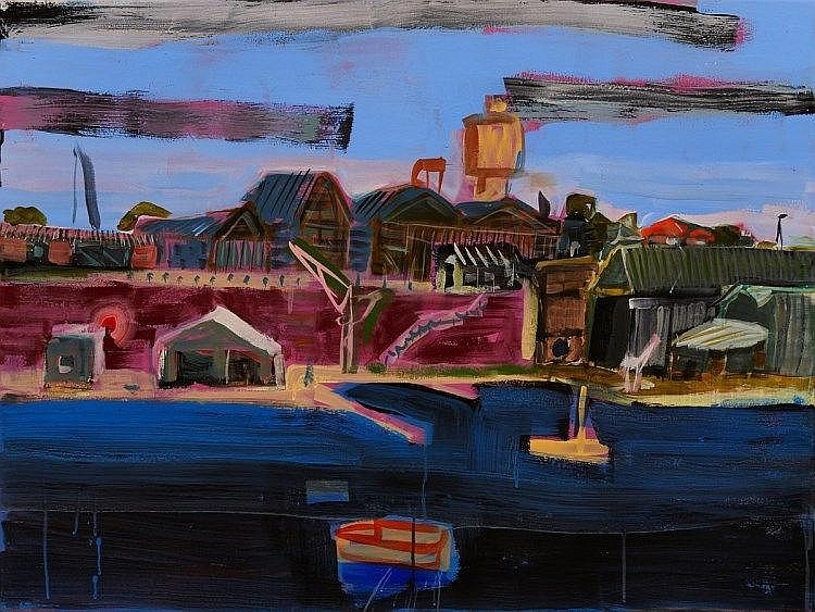 Joe Frost (b. 1974) - Cockatoo Island from Balmain, 2007