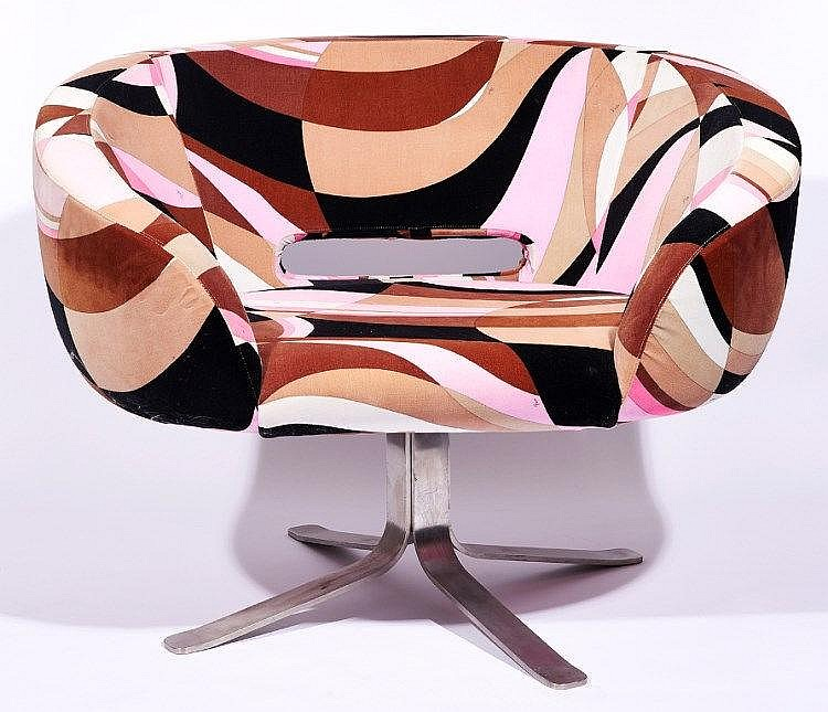 Patrick Norguet (French) and Emilio Pucci (Italian, 1914-1992) - Rive Droite Swivel Armchair, Designed 2001
