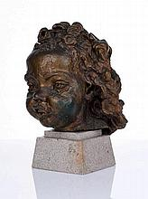 Sir Jacob Epstein (British, 1880-1959) Eighth portrait of Peggy Jean, with curly hair at 2 years, 4 months