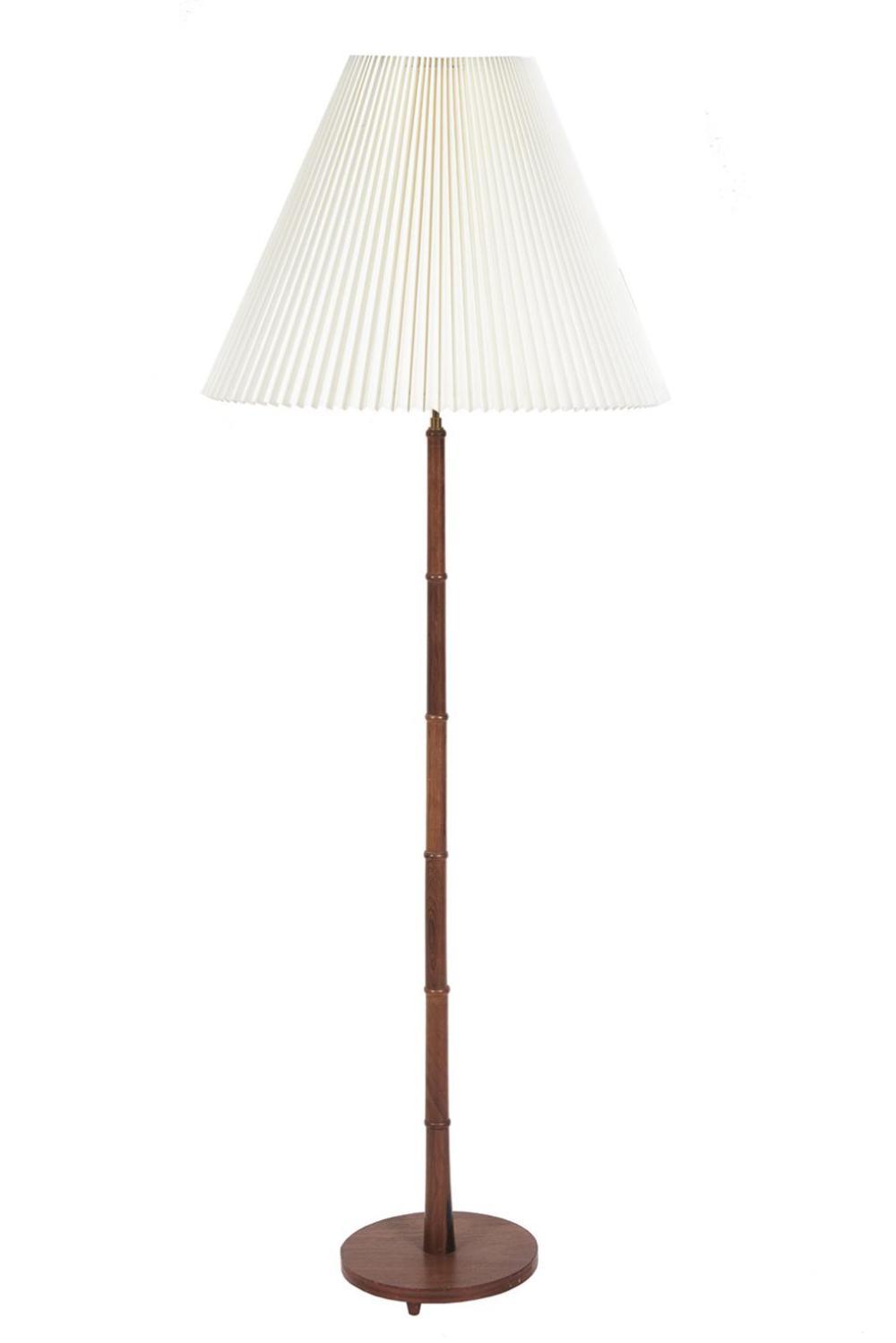Danish Faux Bamboo Floor Lamp c. 1960