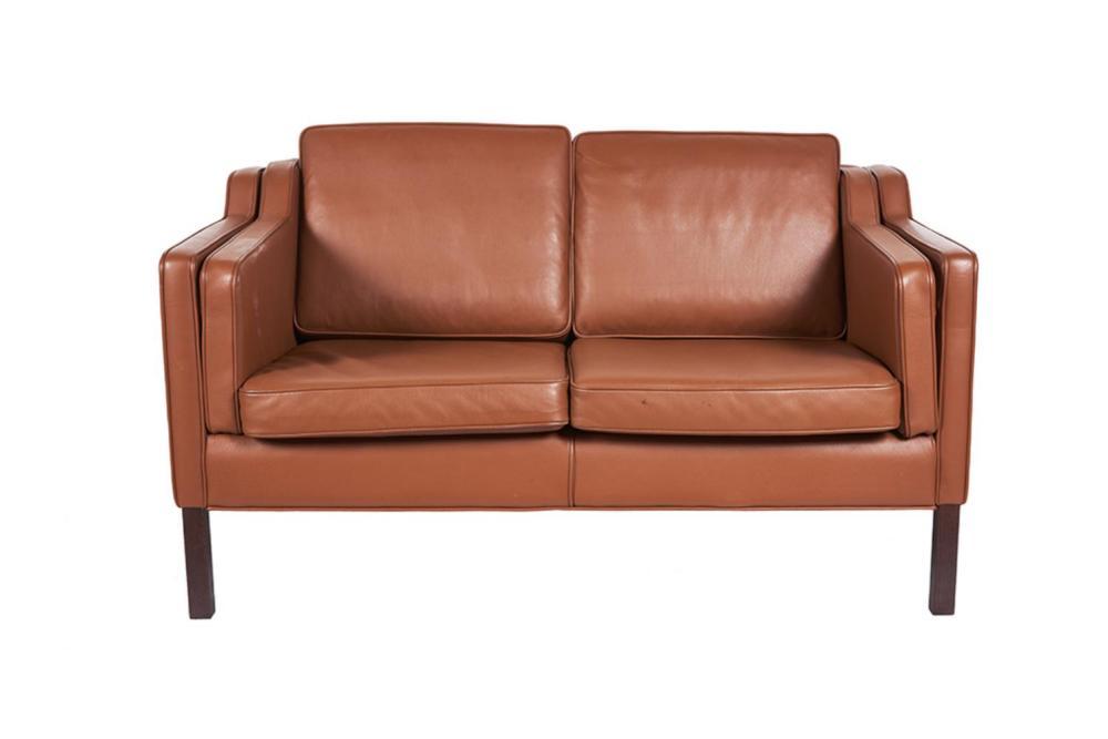 After Borge Mogensen (Danish, 1914-1972) Two Seater Sofa Model Eva
