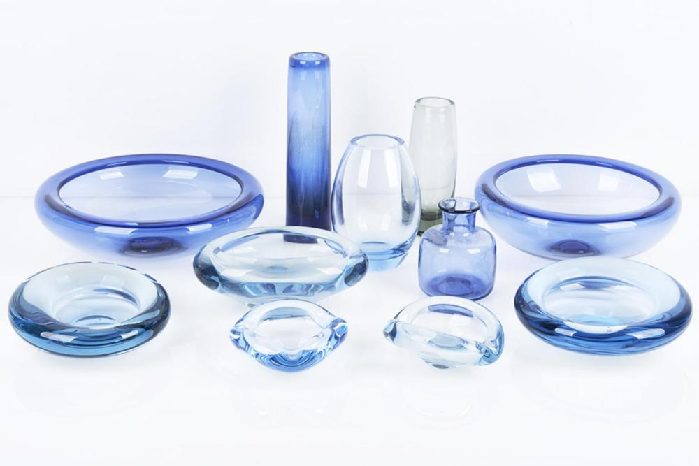Holmegaard Collection of assorted Vaes and Bowls