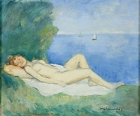 Ivanyi Grunwald Bela (1867 - 1940 Hungarian) Nude