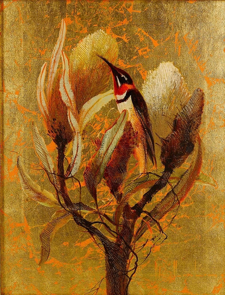 Peter Abraham (1926-2010) Wattle Birds