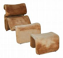 Jan Ekselius (Swedish, b. 1946), Etcetera Chair and  Ottoman, designed c. 1970