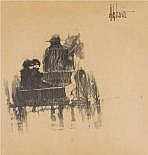 Aldo Luongo (ARGENTINE, 1940) Children in Carriage