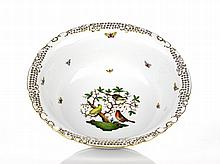 Herend Large Water Bowl 'Rothschild Bird' Pattern