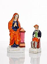 Staffordshire Pottery Figure of the Virgin Mary