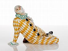 Goebel Pierrot Clown, c. 1925 reclining figure in