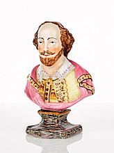 Staffordshire Pottery Bust of Shakespeare together