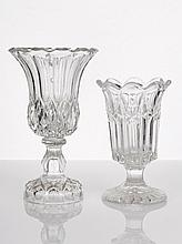 Two Pressed Glass Celery Vases of trumpet form (2)