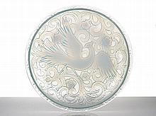 French Opalescent Glass Charger, c.1930 with a