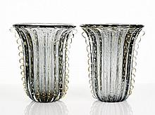 Ercole Barovier Pair of Murano Glass Vases, c.
