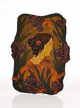 Austrian Art Nouveau Terracotta Plaque, Ernst