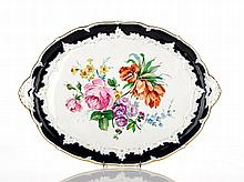 Meissen Oval Tray, second half 18th Century cobalt