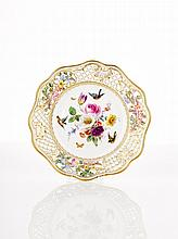 Meissen Porcelain Reticulated Plate, 19th Century