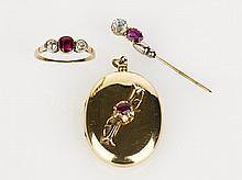 Collection of Ruby and Diamond Jewellery antique