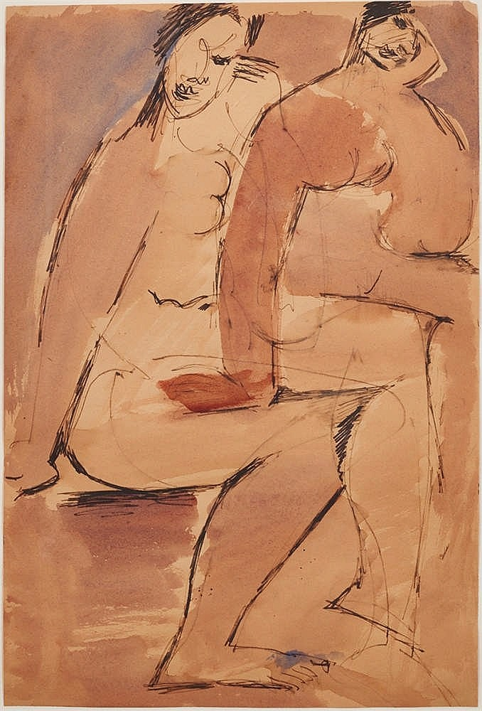 Nancy Grant (1911-1998) Two Seated Figures
