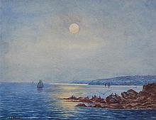 Julian Ashton (1851-1942) Moonlight