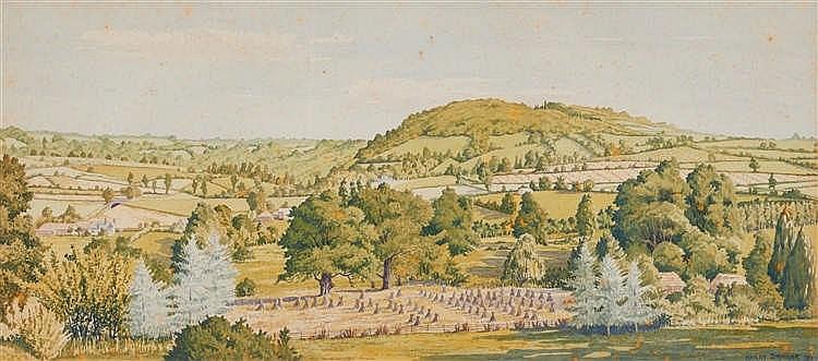 Harry Dangar (c.1930) Hillsides and Crops, 1951, Terrigal, 1920