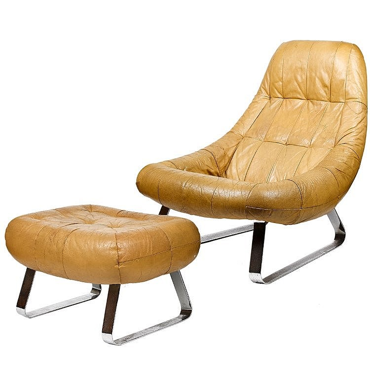 Percival Lafer (Brazilian), Lounge Chair and Ottoman