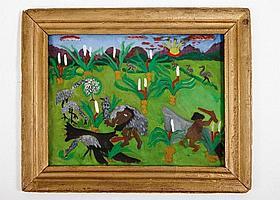 Iris Frame (1915-2003), Aborigines Hunting Emus,