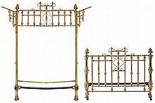 LARGE NINETEENTH-CENTURY BRASS HALF TESTER BED